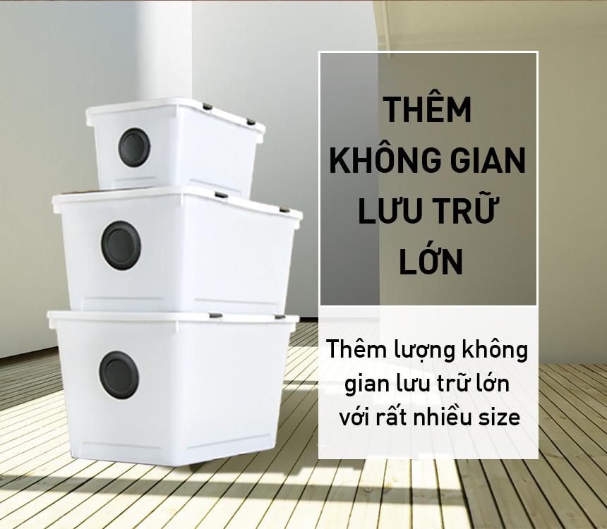 Thùng nhựa đa năng Dot livingbox Oliving 24L